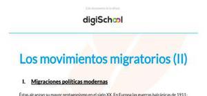 Los movimientos migratorios II - Geografía - 2 de ESO