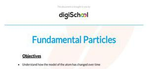 Fundamental particles - Chemistry - AS level