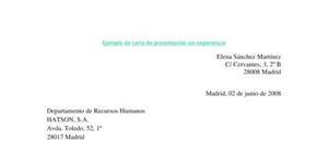 Modelo de carta de presentación para un primer empleo sin experiencia