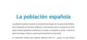 La población española - Geografía - 2 de bachillerato