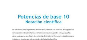 Notación científica de potencias de base 10 - Matemáticas - 3 de ESO