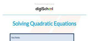 Solving quadratic equations - Maths - AS level