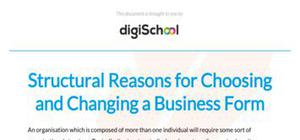Structural reasons for choosing and changing a business form - Business studies - AS level