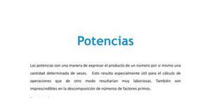 Potencias - Matemáticas - 3 de ESO