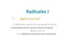 Radicales I - Matemáticas - 3 de ESO