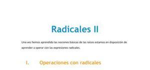 Radicales II - Matemáticas - 3 de ESO