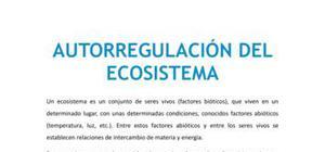 Autorregulación del ecosistema - Biología - 4 de ESO
