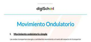 Movimiento ondulatorio simple - Física - 2 de bachillerato