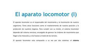 El aparato locomotor I - Biología - 1 de bachillerato