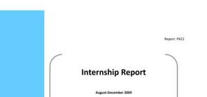 Internship report example on animal ecology and biology
