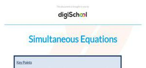 Simultaneous equations - Maths - AS level