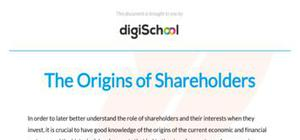 The origins of shareholders - Business studies - AS level