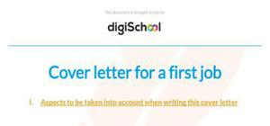 First job cover letter example