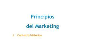 Principios del marketing - Grado
