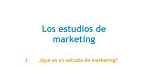 Los estudios de marketing - Marketing - Grado
