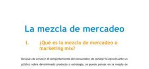 La mezcla de mercadeo o marketing mix - Marketing - Grado