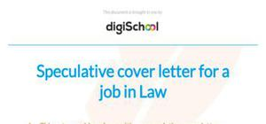 Speculative cover letter example for a job in law