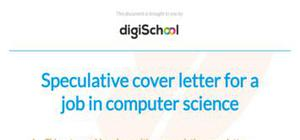 speculative cover letter example for a job in computer science - Cover Letters Examples Uk