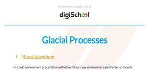 Glacial processes - Geography - AS level