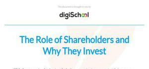 The role of shareholders and why they invest - Business studies - AS level