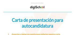 Ejemplo de carta de presentación para autocandidatura