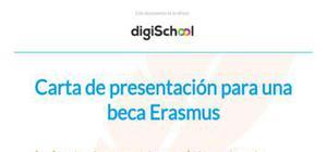 Carta de presentación para una beca Erasmus