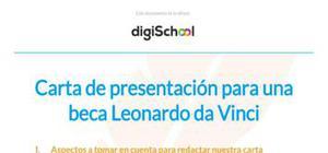 Modelo de carta de presentación para una beca Leonardo