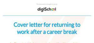 Career break cover letter template