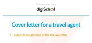 Travel agent cover letter example
