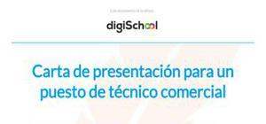 Ejemplo de carta de presentación para técnico comercial
