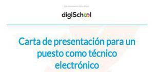 Ejemplo de carta de presentación para técnico electrónico