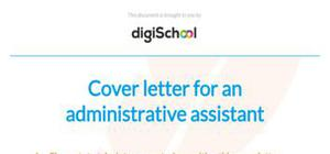 Cover letter for an administrative assistant