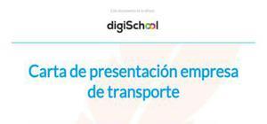 Ejemplo de carta de presentación para una empresa de transporte