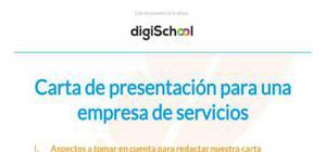 Ejemplo de carta de presentación empresa de servicios