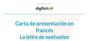 Ejemplo de carta de presentación en francés