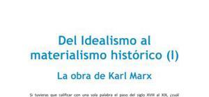Del idealismo al materialismo histórico, la obra de Karl Marx - Filosofía - 2 de bachillerato