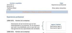 Modelo de currículum vitae en español