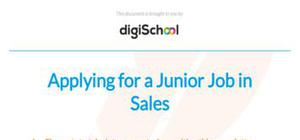Junior sales associate cover letter example