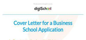 Cover letter example business school application