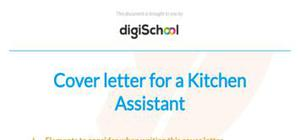 Cover letter for a kitchen assistant