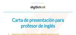Ejemplo carta de presentación profesor de inglés