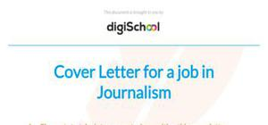 Journalism cover letter example