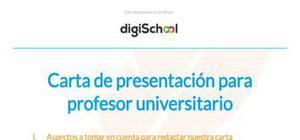 Ejemplo carta de presentación profesor universitario
