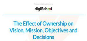 The effect of ownership on vision, mission, objectives and decisions - Business studies - AS level