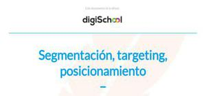 Segmentación, targeting, posicionamiento - Marketing - Grado