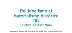Del idealismo al materialismo histórico - Filosofía - 2 de bachillerato