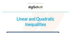 Linear inequalities and quadratic inequalities - Maths - AS level
