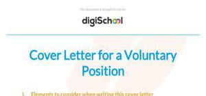 Volunteer cover letter sample