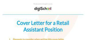 Retail assistant cover letter sample