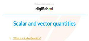 Scalar and vector quantities - Physics - GCSE